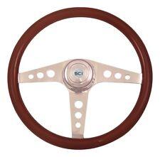 """18"""" 3 Spoke Racer Steering Wheel 3-Hole for Freightliner, Peterbilt,KW + more!"""
