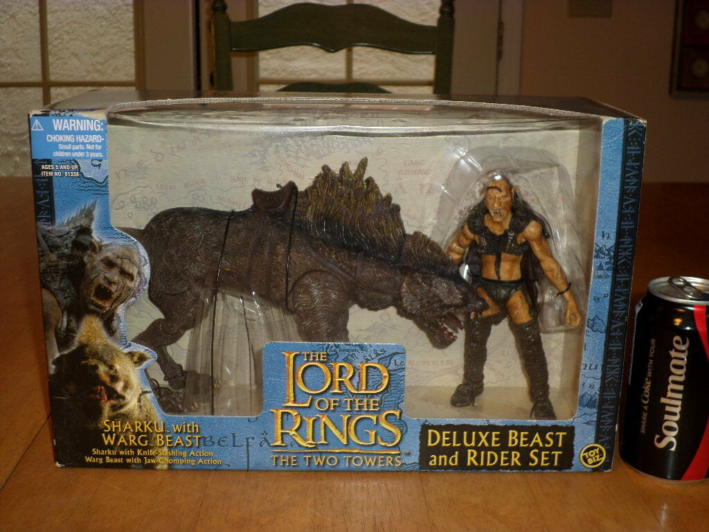 LORD OF THE RINGS- THE TWO TOWERS- SHARKU & WARG BEAST, ACTION FIGURES, Box Set