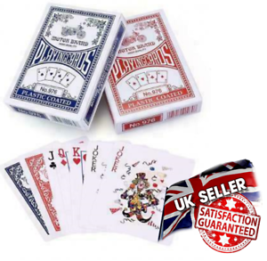 PROFESSIONAL POKER  PLASTIC COATED PLAYING CARDS PREMIUM QUALITY NEW  UK STOCK