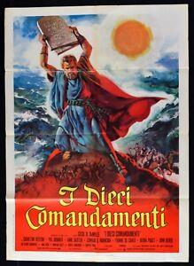 Manifesto I Ten Commandments Charlton Heston Yul Brinner De Tausend Cecil M317