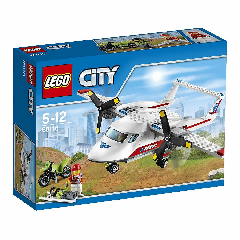 LEGO 60116 City Great Vehicles Ambulance Plane Set New and Sealed