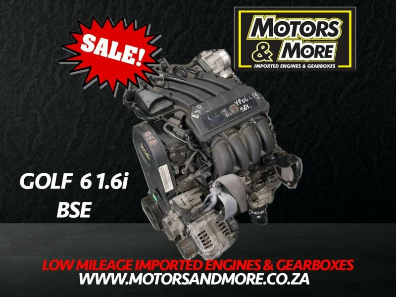 VW Golf 6 1.6 BSE Engine now available at Motors & More Gqeberha - PE