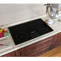 31.5inch Induction Hob 4 Burner Ih Cooktops Black Glass Built In Electric Cooker