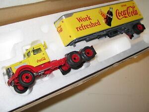 Matchbox-38050-Coca-Cola-039-39-Peterbilt-Semi-w-42-039-Van-Trailer-1-50-O-Scale-Mint