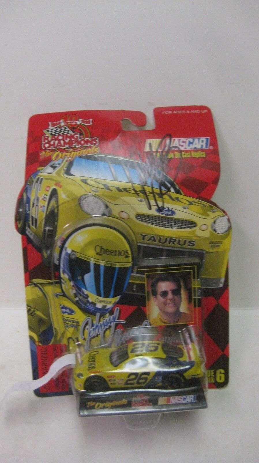 Raro Nascar The Originals Johnny Benson Autografato Ford 1 64 Pressofuso Nuovo