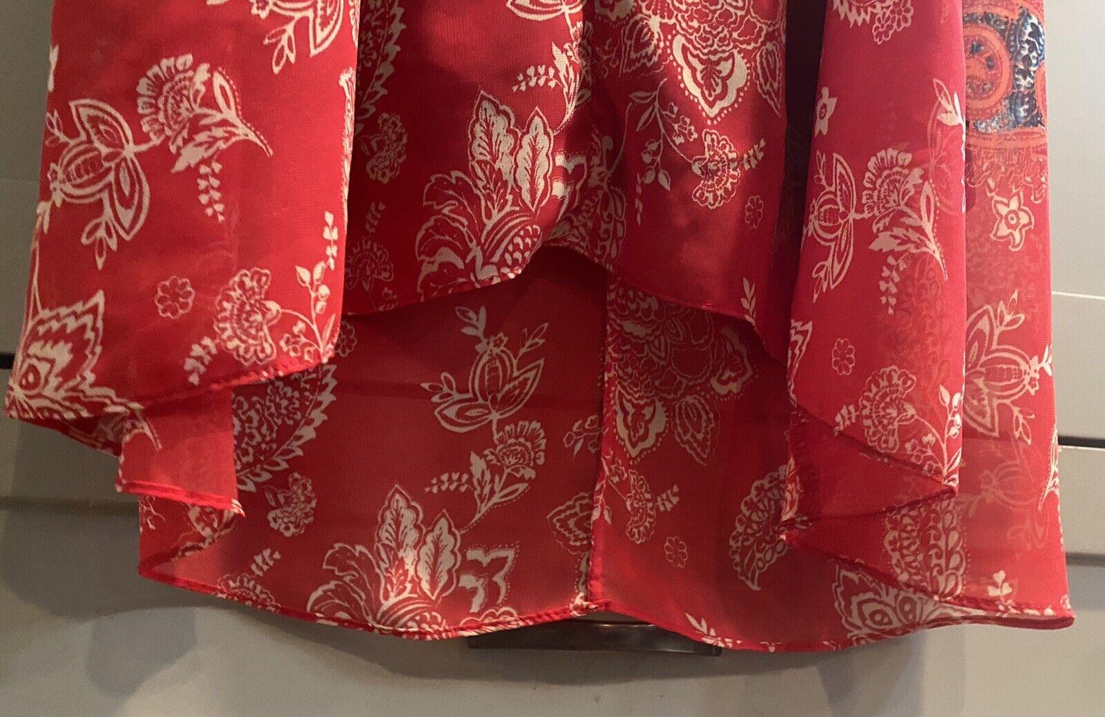 Cb Established 1962 Dress Sz 10 Red & Blue Sheer … - image 7