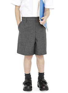 Ages-3-14-Boys-Ex-John-Lewis-Grey-Navy-Bermuda-School-Shorts-Adjustable-Waist