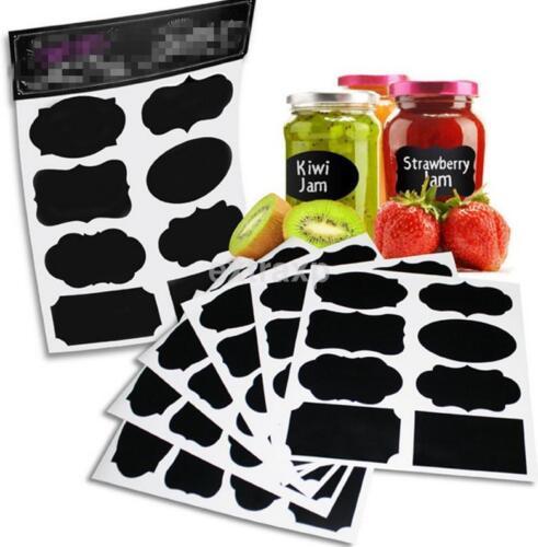 40pc Tableau étiquettes Organisateur peut bouteille bocaux verres stickers Imperméable US