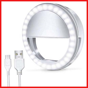 Meifigno-Selfie-Light-Ring-Rechargeable-Clips-On-36-LED-3-Level-Phone-Camera