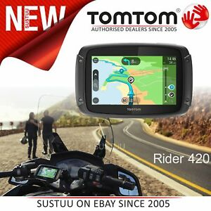tomtom rider 420 motorcycle gps satnav lifetime uk europe. Black Bedroom Furniture Sets. Home Design Ideas