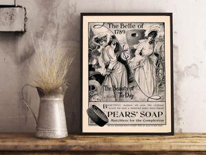 Vintage con pubblicità pears soap bagno casa wall art poster a