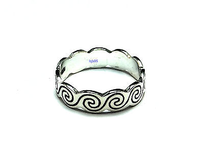 New Sterling Silver Celtic Cutout Heart Band Ring 6mm UK Sizes 925 Hallmarked