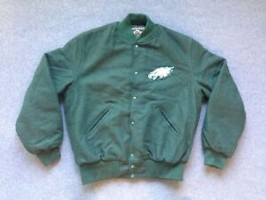 pretty nice 78f2b 579b0 Details about New Philadelphia Eagles letterman Jacket varsity vtg wool  starter jersey hat L
