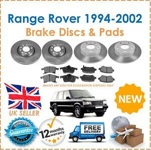 For-Range-Rover-P38-1994-2002-2-Front-amp-2-Rear-Brake-Discs-amp-Brake-Pads-Set-New