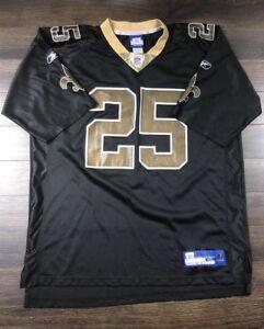 Details about New Orleans Saints Reebok Jersey Men's XL Jersey Number #25 Reggie Bush