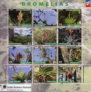 REPUBBLICA-Dominicana-2018-Gomma-integra-non-linguellato-bromelias-bromelias-12v-M-S-fiori-piante