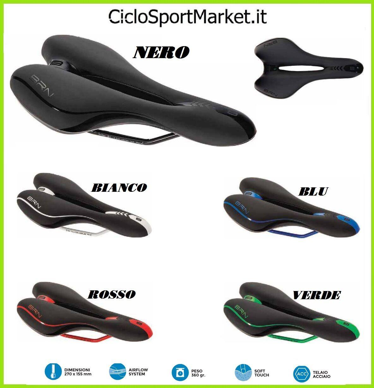 Sattel BRN Dynamic für Fahrrad STRADA / Rennen / Mountain Bike mit Aussparung