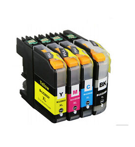4PK-NON-OEM-INK-LC203XL-LC201XL-LC201-LC203-LC-203-for-BROTHER-LC-203-XL