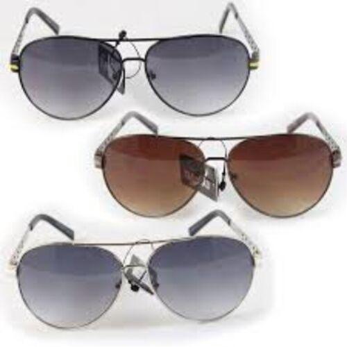 Eye Level Rocco Aviators Sunglasses Black//Silver//Brown UV 400