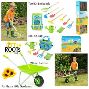 Little-Roots-Kids-Wheelbarrow-Or-Gardening-Kits-Garden-Tools-Outdoor-Activity