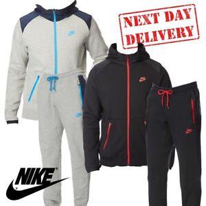 322850602 ✅ 24Hr DELIVERY✅Nike Hybrid Mens Tracksuit Jacket & Trouser Bottom ...