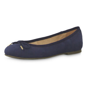 Details about Tamaris Women's Ballerina Sakura 22142 22 Women Shoes Velours Look Schlaife Navy