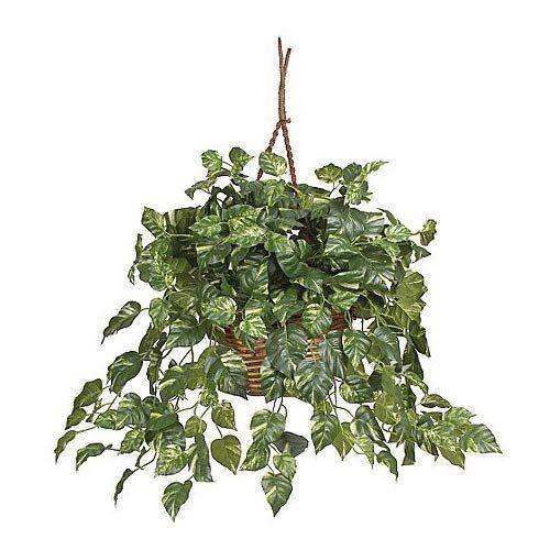 Nearly Natural 6517 Pothos Hanging Basket Silk Plant