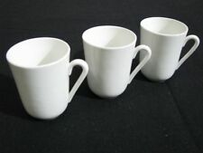 Three Vintage Arabia White Ceramic Coffee Cups or Mugs Near Mint to Mint