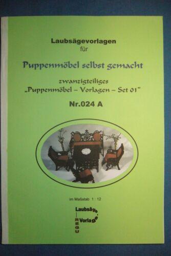 "12 selbst gemacht/"" Laubsägevorlagen Nr.024 A REGU ++++++++ /""Puppenmöbel 1"