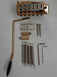 Wilkinson-Tremolo-Set-Wv2-Strat-Style-Gold-Plated-For-Electric-Guitar