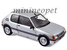 NOREV 184852 1988 88 PEUGEOT 205 GTI 1/18 DIECAST MODEL CAR GREY