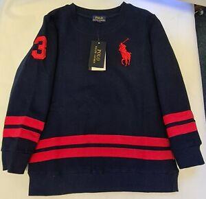 Polo-Ralph-Lauren-BOYS-Sweatshirt-Sweater-Big-Pony-FLEECE-LINED-NO-3-JUMPER-Y-10