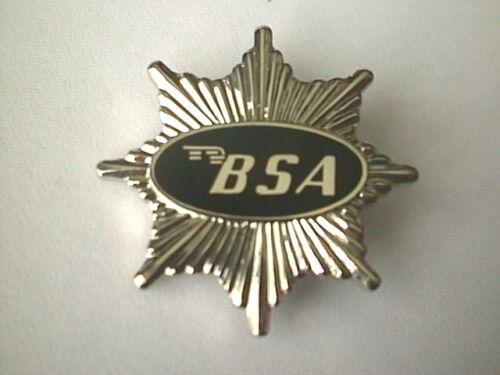 BG45B MOTORCYCLE PIN BADGE /'BSA STAR/' BLACK MOTORBIKE LAPEL BADGE