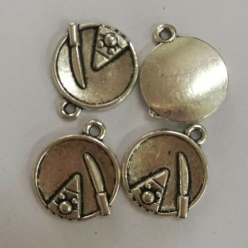 12pcs tibetan  silver color crafted cake design charms H0605