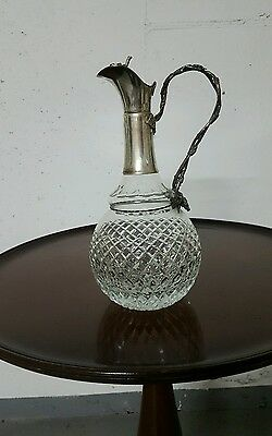 Kristall-Karaffe 800er Silber