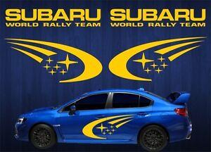 4 Piece 40 Subaru World Rally Team Vinyl Graphics Car Decals