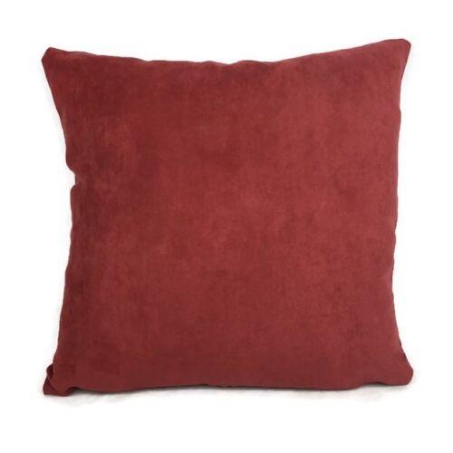 """X 4 cubiertas de cojín rojo tela suave tamaño 16/"""" X 16/"""" Totalmente Nuevo venta + Gratis P + P"""