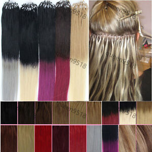 Easy-Loop-Micro-Ring-Bead-Ombre-Hair-Remy-Human-Hair-Extensions-Straight-16-26-034