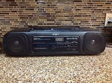Sony CFD-58 Boombox CD Player AM/FM Radio Cassette Stereo Tested Works