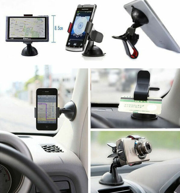 Car Phone Holder Windshield Dashboard Mount Stand For iPhone GPS MP3 4 Universal
