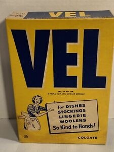 Vintage-1940s-VEL-Powdered-Soap-Sealed-Laundry-Dish-Packaging-Advertising