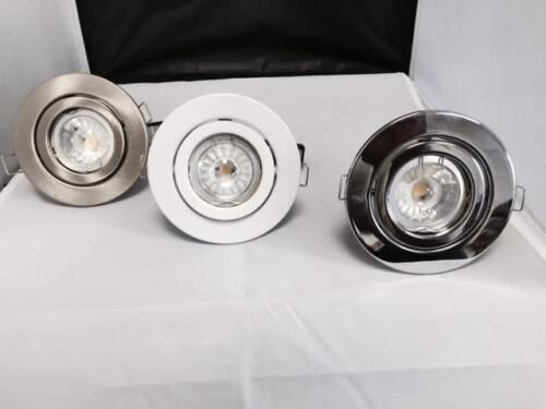 LARGE RECESSED TILT CEILING GU10 MAINS 240V DOWNLIGHT SPOTLIGHTS LED OR HALOGEN
