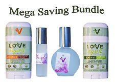 2 Deodorants Longtime & Naked Natural Organic 2 Deeply Perfumes Mega Bundle of 4