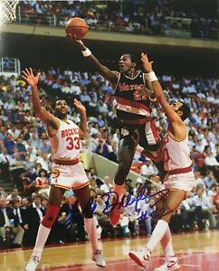 Clyde Drexler Autographed Signed 8x10 Photo ( HOF Rockets ) REPRINT