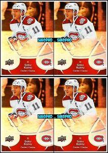 4x-UD-McDONALD-2009-SAKU-KOIVU-MONTREAL-CANADIENS-MINT-SUPERSTAR-CARDS-26-LOT