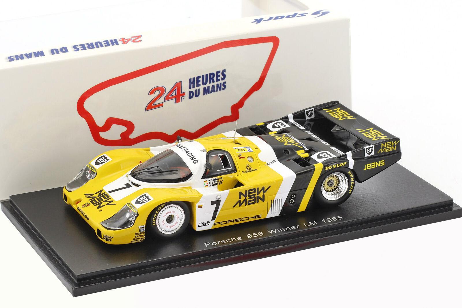 Porsche 956 B ganador 24 horas limón 1985 Ludwig barila barila barila 1  43 de invierno 744