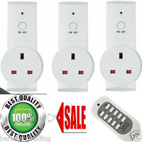 1/2/3 X Remote Control Sockets Wireless Switch Home Mains UK Plug Power Outlet