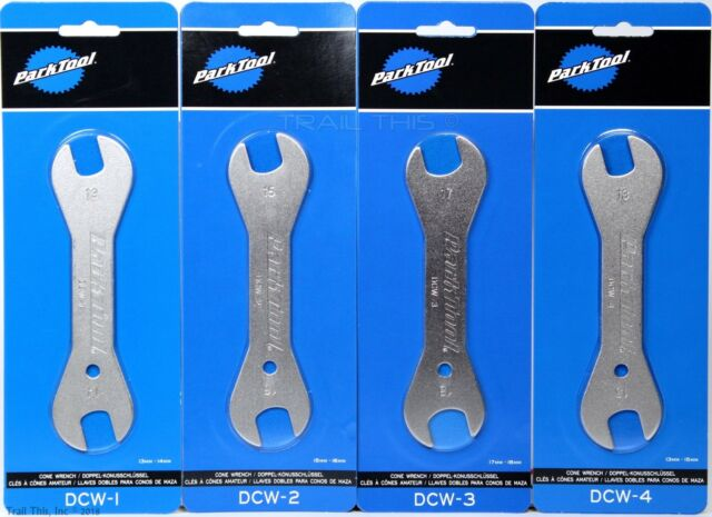 Park Tool DCW-1 DCW-2 DCW-3 1 2 3 Double-Ended Bike Cone Wrench Set 13mm to 18mm