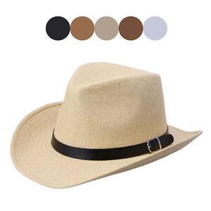 959bd290fe3 Details about Fashion Women Straw Fedora Summer Beach Wide Brim Sun Hat  Panama Cap HOT SALE