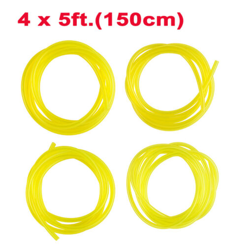 Fuel Line Pipe Hose 4PCS 150mm For Trimmer Chainsaw Blower OD 3.5mm 6mm 5mm 5mm